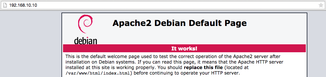 Apache Welcome Screen