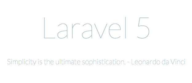 Laravel Welcome Screen